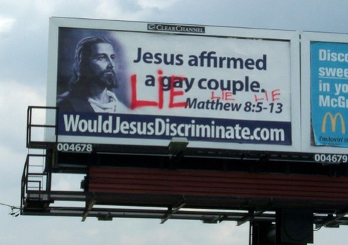 Defaced Jesus MCC Billboard