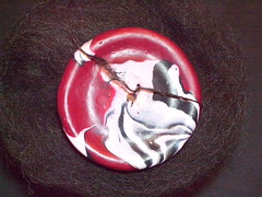 polymer clay high-whorl top