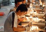 Рабочие на фабрике в Китае