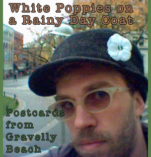 White Poppies on a Rainy Day Coat - Postcards from Gravelly Beach #41