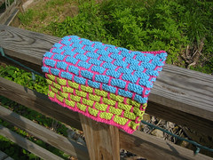 dishcloth on rail