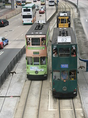 Trams on Queensway Rd