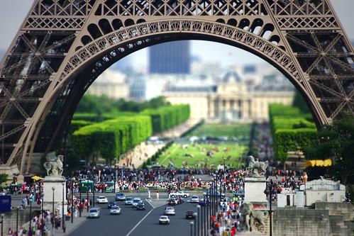 Eiffel Tilt Shift II by Hanna Maria and Arnar