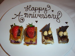 Anniversary dessert treat
