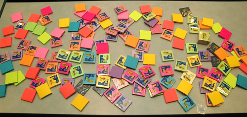 spread of postits