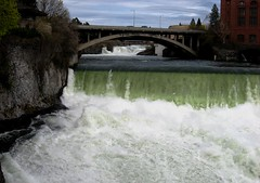 Falls under bridge