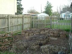 gardening with straw bales