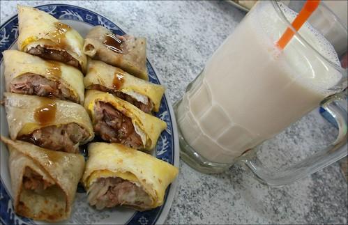 soy milk and tuna wrap