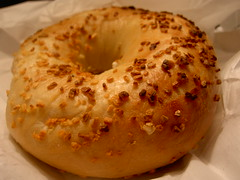 mein erster Bagel in NYC