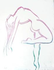 Grace 48x36 Acrylic and Gesso on Canvas by Jennie Rosenbaum