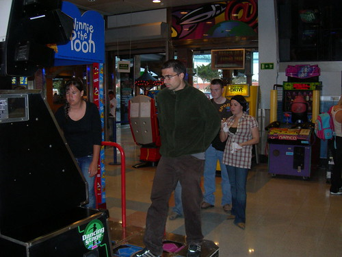 En los recreativos, juntos al DDR