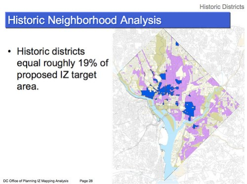 Inclusionary Zoning Area in Historic Districts