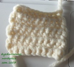 double crochet swatch