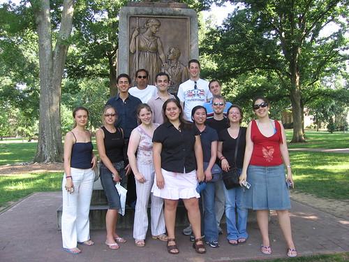 Participantes de un seminario de verano del IHS en la universidad de Duke, NC