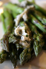 Asparagus with Lemon Balm Butter