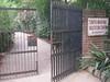 Gate to Tushita Meditation Center, Delhi