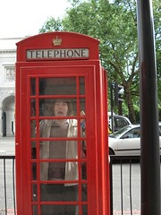 Tim in a phonebooth