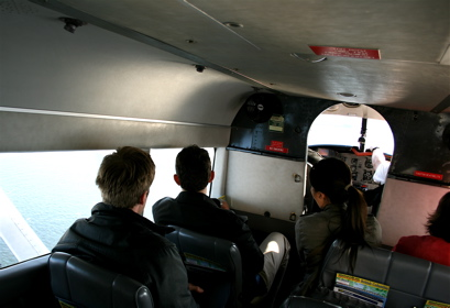 inside the seaplane