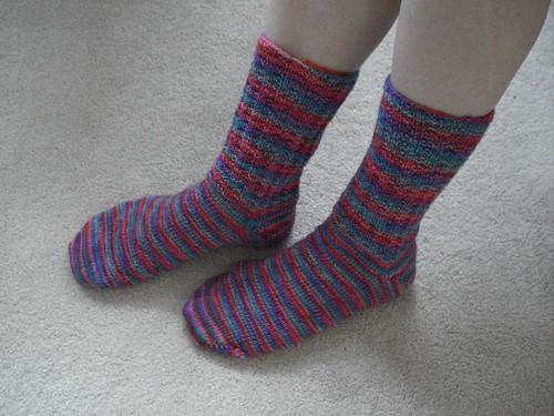 Completed Kona Socks
