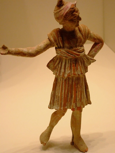 Greek terracotta statuette of a Mime made in Myrina about 100 BCE (1)