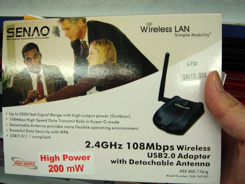 High Powered Wifi receiver (Detachable Antenna)