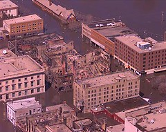 Downtown Grand Forks During the 1997 Flood
