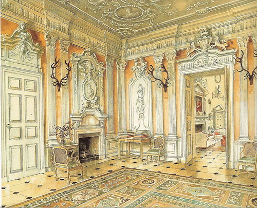 Ditchley Park - Alexandre Serebriakoff watercolor