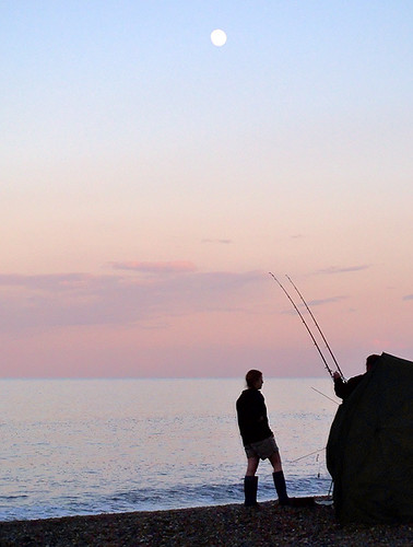 dusk sea-fishing