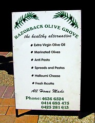 Razor Back Olive Grove at Wollongong Friday Produce Market