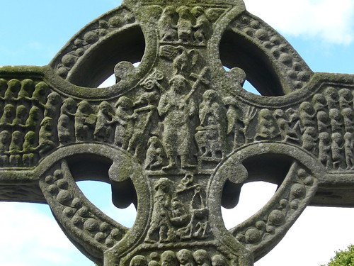 Celtic cross at Monasterboice, Ireland