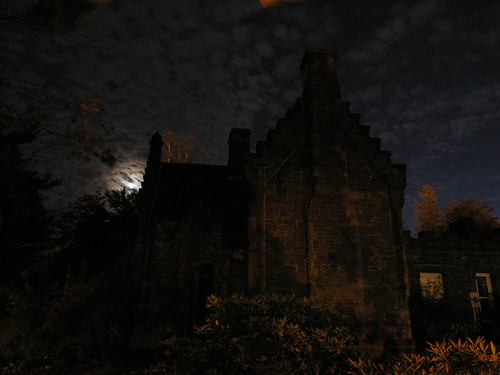 Gatehouse moonlit