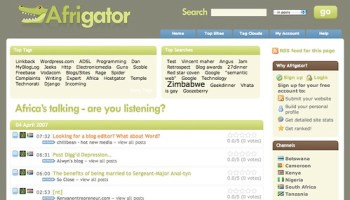 Afrigator - screenshot
