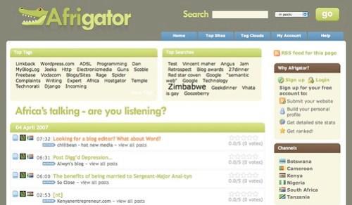 Afrigator - screenshot