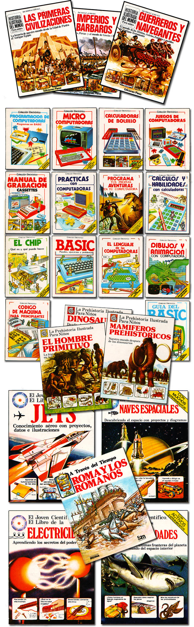 Viejos libros de Plesa-SM