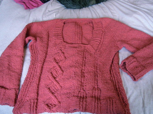 knitted jumper close up
