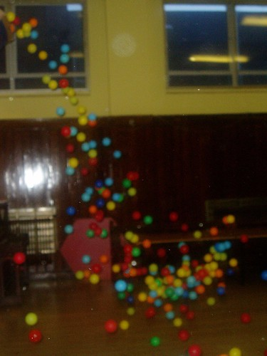 it's raining coloured balls