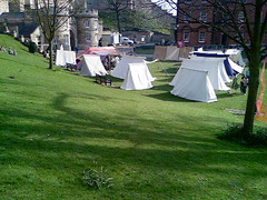 Camp at Lincoln Castle