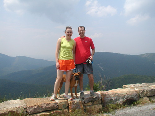 Bethany, Belle, and Joshua on Skyline Drive
