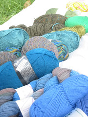 close up of stash 4 blue and green
