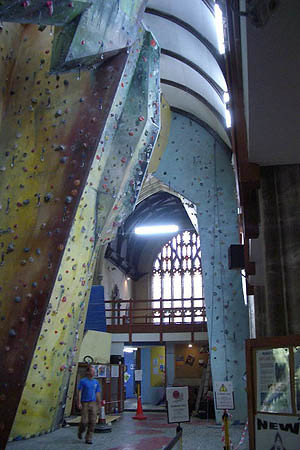 This is the coolest rock-wall climbing centre I've ever seen!