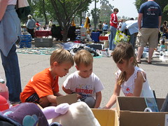 Three Kids at a Yard Sale