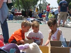 Three Kids at a Yard Sale