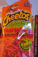 cheetos crunchy flamin' hot limon!