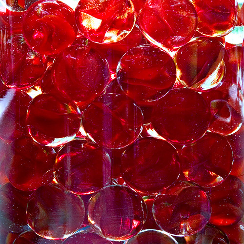 Over Saturated Red Water Marbles
