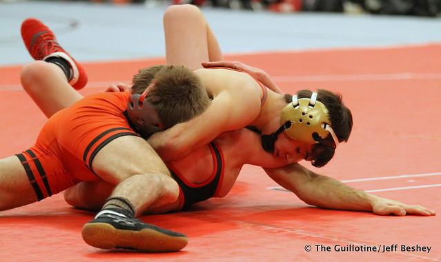 120 - Dack Punke (Washington) over Bray Olson (Kenyon-Wanamingo ) Fall 2:47