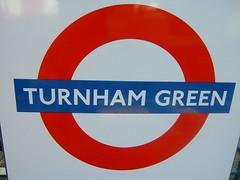 Turnham Green Tube sign