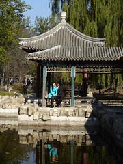 Lovers by Ditan Gongyuan ornamental lake