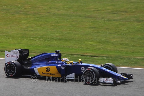 Marcus Ericsson in qualifying for the 2015 British Grand Prix at Silverstone