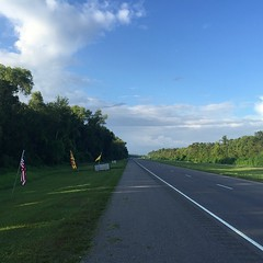 The Road Ahead. Day 109. Rt. 90 in Raceland, LA. Only getting up to ninety today, should be the coolest day I've had in at least a month. #theworldwalk #travel #wwtheroadahead