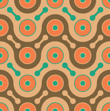 Cool Pattern 1 Color 1 by David Matthew Parker.